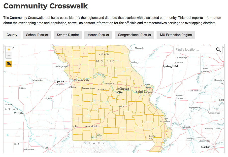 Community Crosswalk Tool